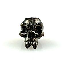Schmuckatelli Fang Skull Bead (Hematite Matte)