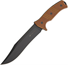 Steel Will Chieftain 1620 Orange Tactical Fixed Blade Knife (Black PVD)