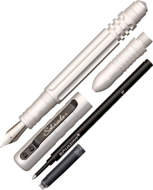 Schrade Tactical Fountain & Rollerball Pen (Silver)