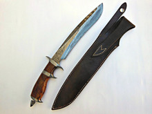 Jim Siska Custom Forged Subhilt Fighter Knife (Damascus)