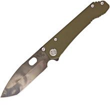 Medford Knife & Tool 187DPT OD Green Frame Lock Knife (Vulcan)