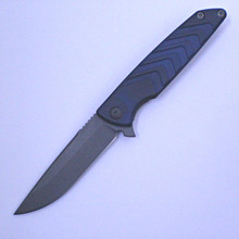 Brian Nadeau Typhoon Blue Framelock Flipper Knife (Stonewash)