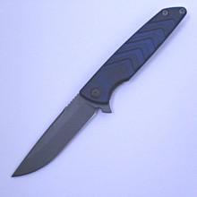 Brian Nadeau Typhoon Blue Framelock Flipper Knife (Stonewash)