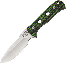 Florian Knives Vorax Zombie Green Fixed Blade Knife (Stonewash)