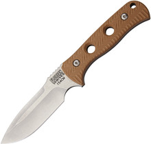 Florian Knives Vorax Coyote Brown Fixed Blade Knife (Stonewash)