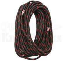 Live Fire Gear FireCord 25 Ft 550 Paracord (Black/Red Line)
