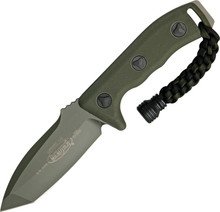 Microtech Currahee T/E Fixed Blade Knife (OD Green Tanto)