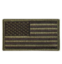Rothco American Flag Patch (Black & OD)