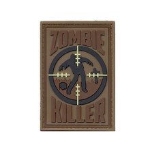 Rothco PVC Zombie Killer Morale Patch (Brown & Black)
