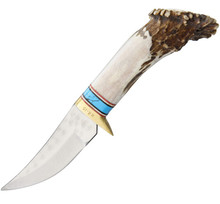 Ken Richardson Small Turquoise Hunter Knife (Satin)