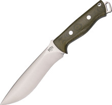 Bark River Bravo Strike Force Green Micarta Knife (Satin)