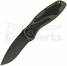 Kershaw Blur Assisted Opening OD Green Linerlock Knife (Black)