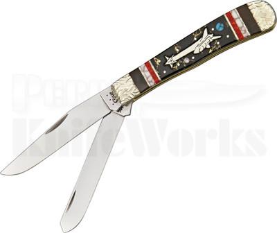 Brian Yellowhorse Custom Case Star Chaser Trapper Knife (Satin)