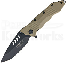 Guardian Tactical Helix Combat Tan Framelock Folder Knife (Black)