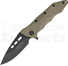 Guardian Tactical Helix Combat Desert Tan Framelock Folder Knife (Black)