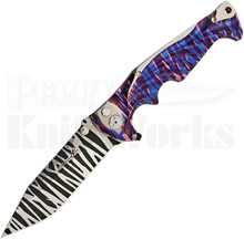 Brian Tighe Custom Tighe Breaker Button Lock Knife (Tiger Stripe)