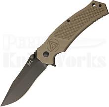 Combative Edge M1 Flat Dark Earth Linerlock Knife (Black)