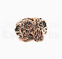 Schmuckatelli Gemini Twins Skull Bead (Ant. Copper)