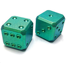 Flytanium Large Cuboid 2 Dice Set (Green SW)