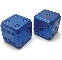 Flytanium Large Cuboid 2 Dice Set (Blue SW)