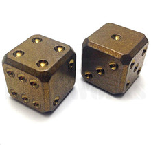Flytanium Large Cuboid 2 Dice Set (Bronze SW)