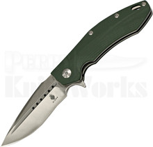 Kizer Vanguard Series Sovereign Tang Green Flipper Knife (Satin)
