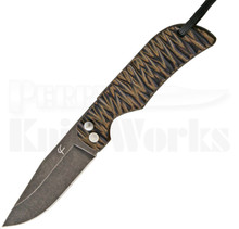 Fred Perin Folding Neck Knife Brown (Black Stonewash)