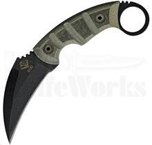 Ontario Ranger EOD Karambit Green Micarta Knife (Black)