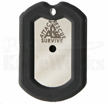 Attack Rescue Survive Dog Tag Survival Knife (Black)