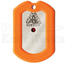 Attack Rescue Survive Dog Tag Survival Knife (Orange)