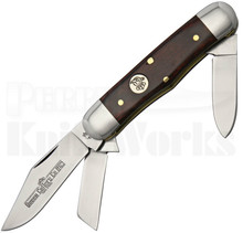 Queen Cutlery Curly Zebra Wood Railsplitter Knife (Satin)