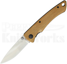 Stone River Gear Olive Wood Linerlock Knife (Ceramic White)