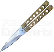 Kyle Vallotton Custom Coffin Bronze Butterfly Knife (Satin)