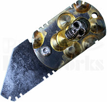 Todd Heeter Custom War Tag Knife (Skull Inlay)