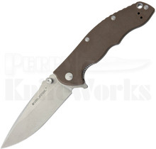 Real Steel T101 Thor Brown Flipper Knife $54.00