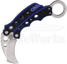 Combat Ready Blue Karambit Butterfly Knife