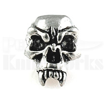 Schmuckatelli Fang Skull Bead Pewter