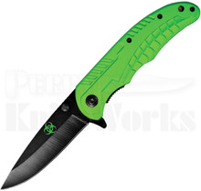 Factory X Biohazard Drop Point Linerlock Knife