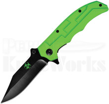Factory X Biohazard Clip Point Linerlock Knife
