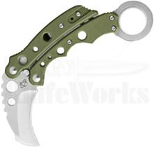 Mantis Vuja De Green Balison Karambit Knife