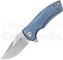 Zero Tolerance 0900BLU Blue Framelock Flipper Knife