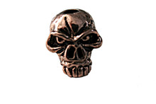 Schmuckatelli Emerson Jumbo Skull Bead (Ant. Copper)
