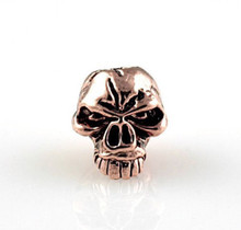 Schmuckatelli Emerson Skull Bead Jumbo (Ant. Copper)