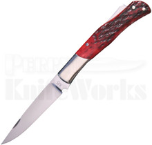 Ken Steigerwalt Custom Red Lockback Knife