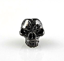 Schmuckatelli Emerson Skull Bead (Hematite)