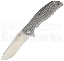 "Kizer Rattler Titanium Framelock Flipper Knife (3.625"" Satin) Ki4470"