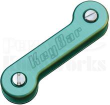 KeyBar Aluminum Premium Pocket Key Holder-Organizer (Green)