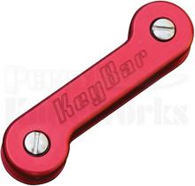 KeyBar Aluminum Premium Pocket Key Holder-Organizer (Red)