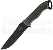 "Ontario Ranger TFI Knife Fixed Blade Knife Black Micarta (5.25"" Black)"