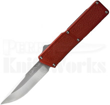 "Lightning Red D/A OTF Automatic Knife (3.25"" Satin)"